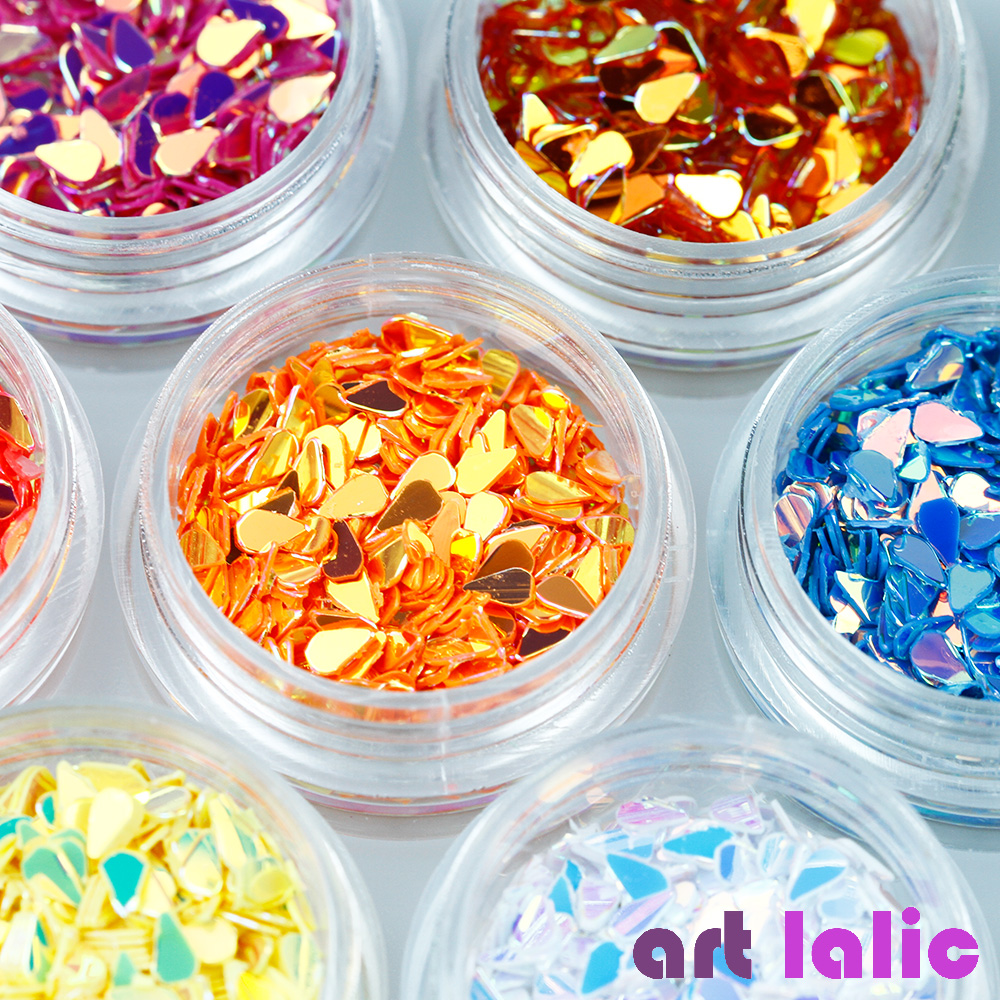 Artlalic 12pcs/set New Iridescent Water Drop Beauty Nail Art Decorations Glitter Sequins Nails Design Accessories For Manicure