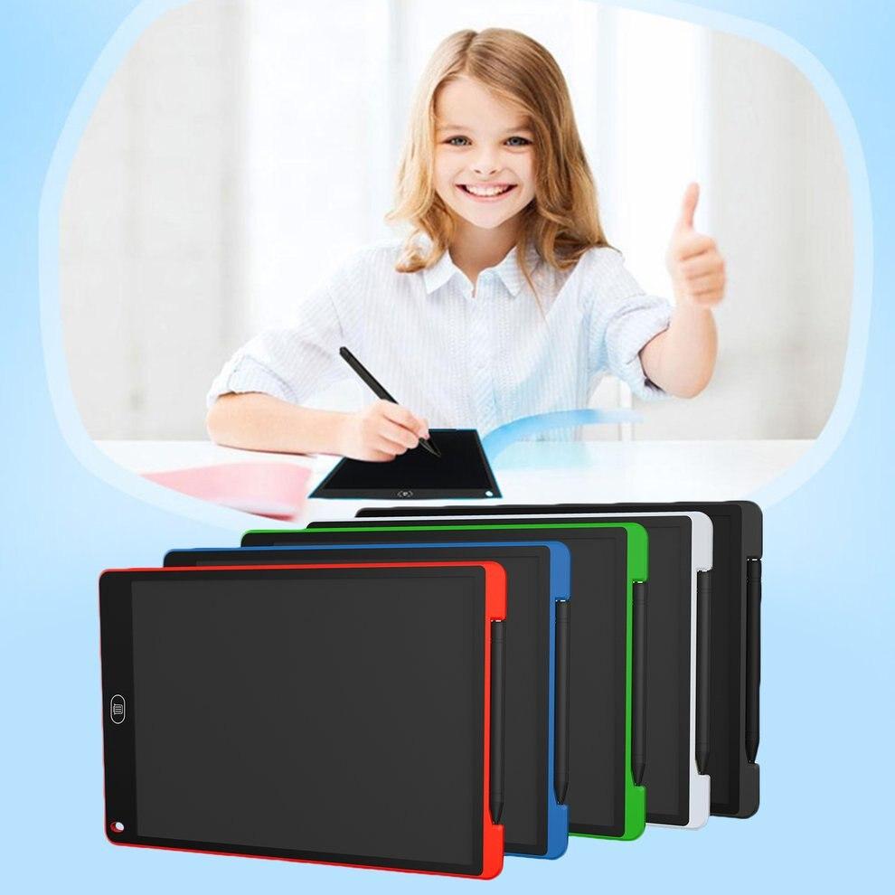 5 pcs Noir 12 pouces LCD Écran Bloc-Notes Numérique Dessin Pad Conseil D'écriture Portable Tableau Électrique Pour La Maison Bureau