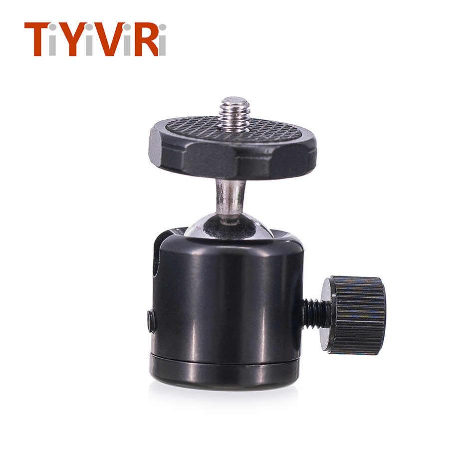 TiYiViRi עבור מצלמה חצובה מיני כדור ראש Ballhead שולחן חצובה Stand 1/4 חמה נעל מתאם עבור DSLR של Canon
