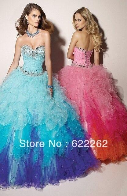 f8926ac2b Popular alta calidad del vestido de bola rebordeado amor del Organza tres  colores Blue Beads quinceañera