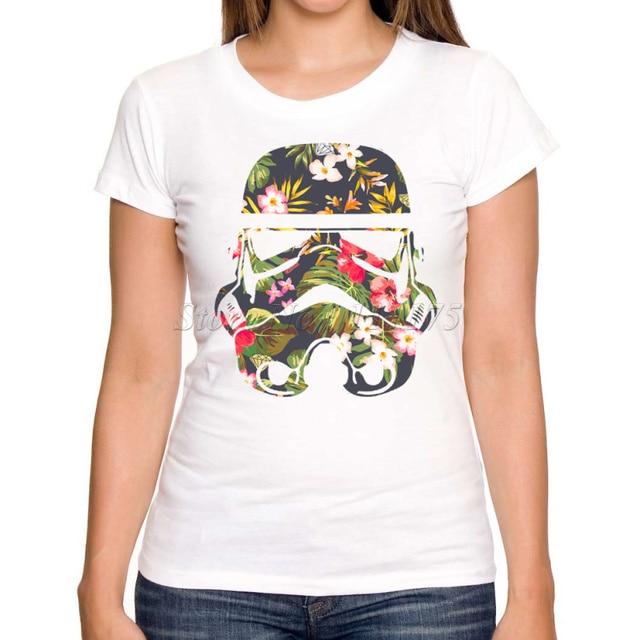 Star Wars Tropical Stormtrooper Design T-Shirt