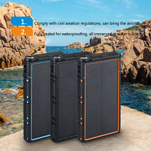 Solar Power Bank 10000mAh Multifunction Solar Charger Waterproof and Fallproof + LED Light Dual-USB Portable External Battery(China)