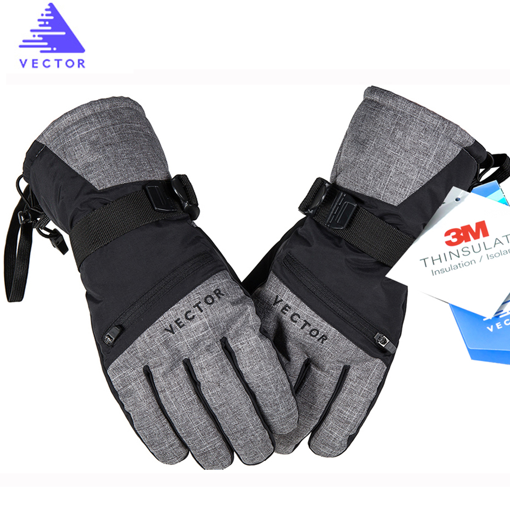 VECTOR Snowboard Gloves Skiing Warm Waterproof Sports Winter Women Outdoor Touch-Screen