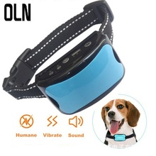 OLN Miniature Intelligent Bark Stopper Dog Neck Trainer Drives Vibration and Prevents Barking Waterproof
