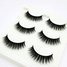 Natural 3d False Eyelashes Mink Thick Manual Three-dimensional Long Will Eye Makeup Fake
