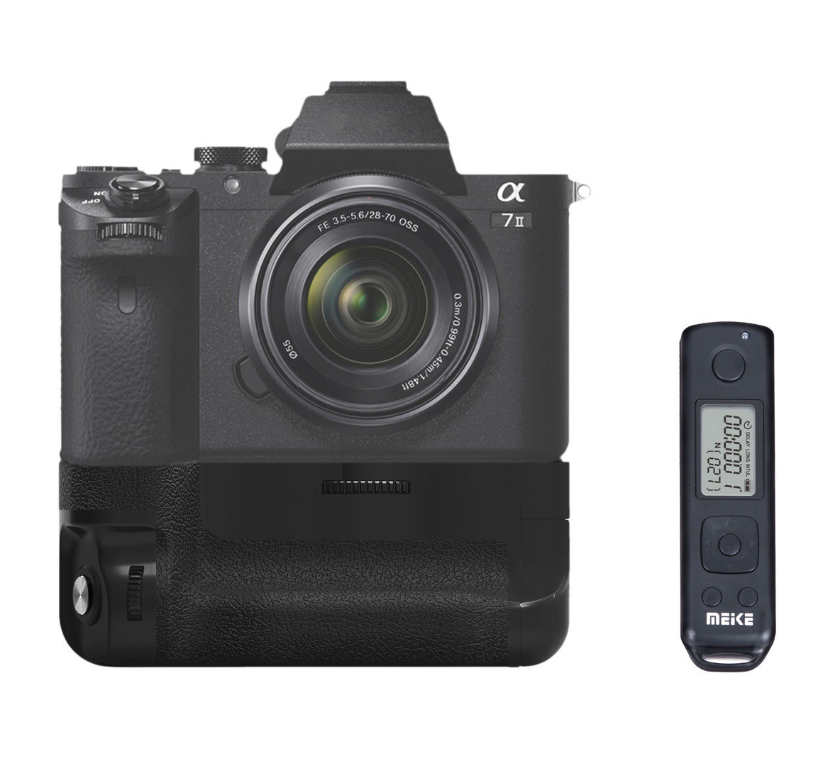 Meike MK-A7II Pro Built-in Wireless Control Battery Grip for Sony A7 II A7R II A7S II as for Sony VG-C2EM meike mk d500 pro vertical battery grip built in 2 4ghz fsk remote control shooting for nikon d500 camera as mb d17