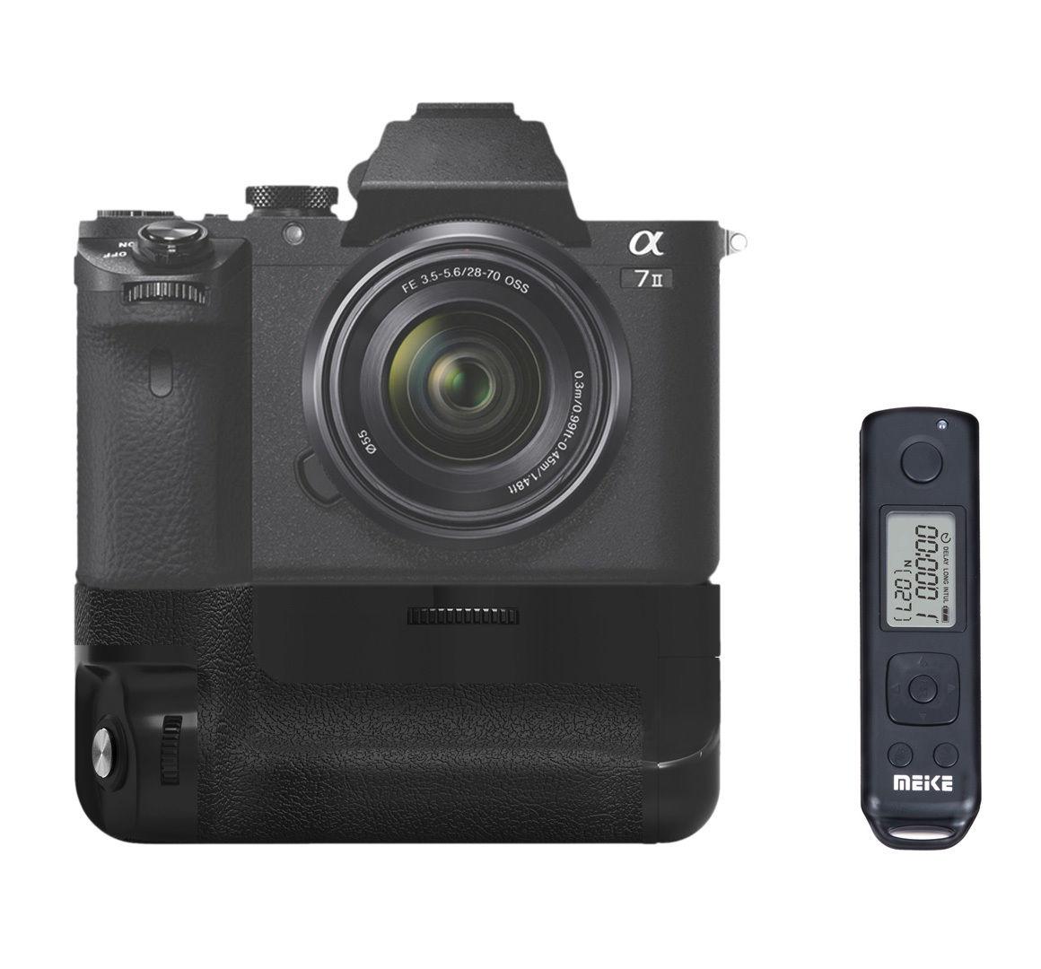 bilder für Meike MK-A7II Pro Eingebaute Drahtlose Steuerung Batteriegriff für Sony A7 II A7R II A7S II als für Sony VG-C2EM