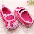 0-12 M Recién Nacido Dulce Bebé Flor de Las Muchachas Con Volantes Zapatos de Niño Niños Inferiores Suaves del Pesebre Primeros Caminante