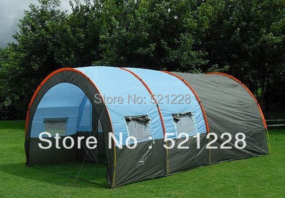 Hot/on sale 8-10 persons waterproof Canvas Outdoor Camping large family tunnel beach fishing tent 2 bedrooms 1 living room tentHot/on sale 8-10 persons waterproof Canvas Outdoor Camping large family tunnel beach fishing tent 2 bedrooms 1 living room tent