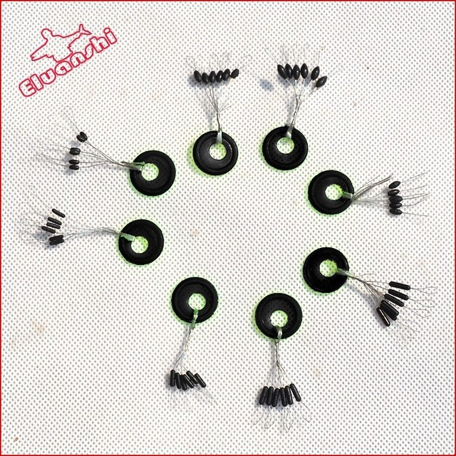 25sets Fishing rubber tube stopper Prevent slipping Tackle tool Plastic beans buffer beads float Rest double fish tennis jig