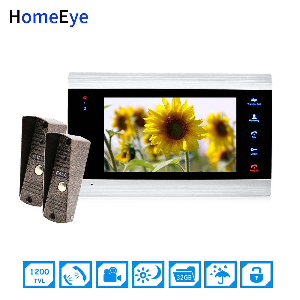 Wholesale Video Doorbell Video Intercom 2-1 Home Access Control System Motion Detection Multi-languages OSD Menu Touch Button
