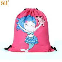 361 Kids Swim Backpack Boys Girls Drawstring Waterproof Bag Blue Pink Mermaid Shark Dry Wet  Pool Beach Outdoor Sports