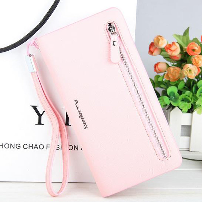 Wanita Zipper Long Coin Purses Money Bag Pemegang Kad Kredit Clutch High Quality Dompet Wanita Dompet Telefon Kulit
