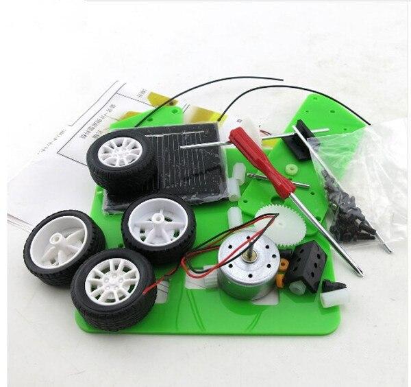 DIY Solar Car Self assembly Mini Solar Powered DIY Car Kit Children Educational Toy Gadget Gift 4 colors