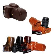 Новая искусственная кожа видео камера сумка для Canon EOS 1100D 1200D 1300D 550D with18-55 мм/105/200 мм Объектив Ретро Винтаж Сумка