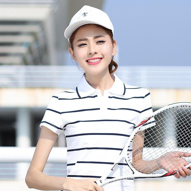 Women Polo Shirts Cotton...