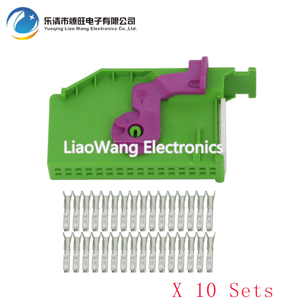 10 Sets 32 pin automotive instrumentation plug female with terminal DJ73281A 0 6 21 32P car connector in Connectors from Lights Lighting