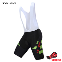 TELEYI Men High Quality Bib Shorts Classic Race Bicycle Bottom Ropa Ciclismo Bike Pants 5D Gel