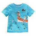 2016 Stylish Children T-Shirt 4 Style Baby Boys Girls T Shirt Summer Short Sleeve Shirts Kids Cartoon Boy Girl Tops Tees Clothes