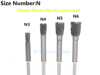 10pcs 3 4 Cylinder Tungsten Steel Carbide Burr Free Shipping