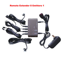 IR Remote Extender 8 Emitters 1 Receiver Infrared Repeater Hidden System Kit EU Futural Digital Drop Shipping AUGG11(China)