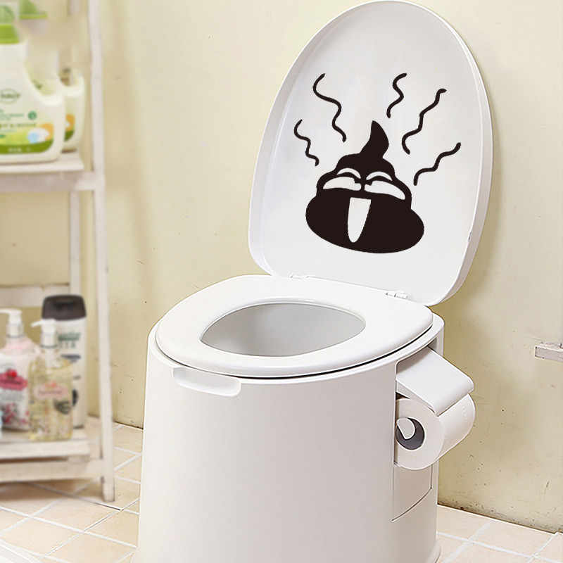 Funny Toilet Seat Stool Vinyl Wall Sticker Decals Art Wallpaper Removable Bathroom Decor Diy Carton Decal Poster Mural Poster Mural Funny Toilet Seatsbathroom Decor Aliexpress