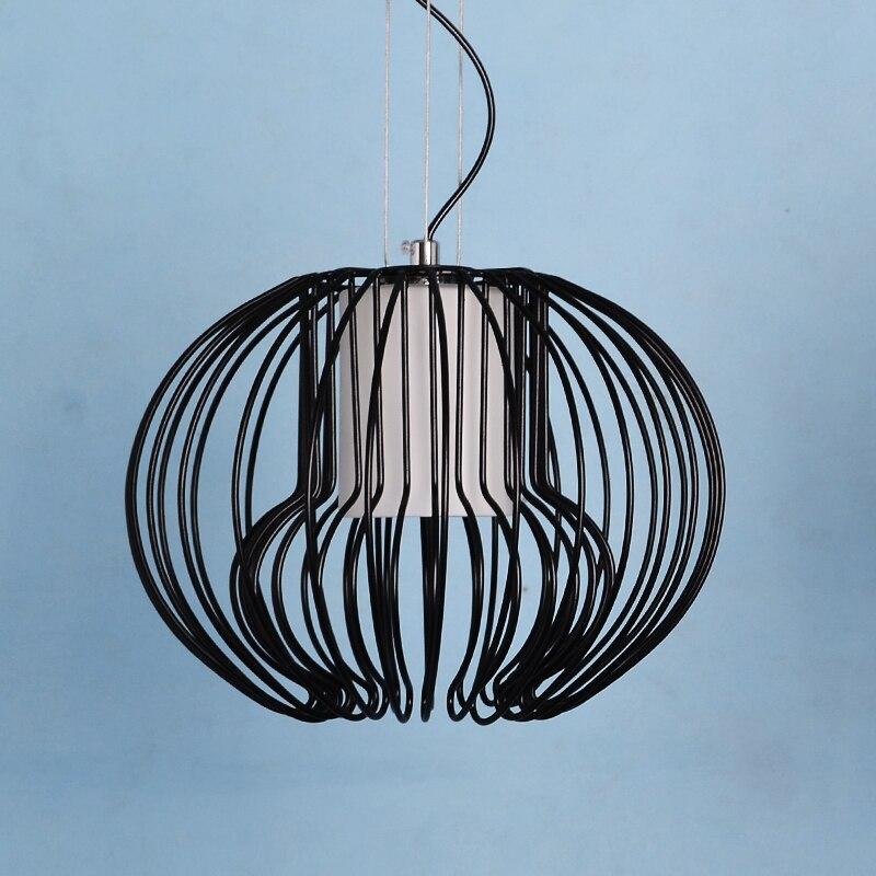 ФОТО Simple modern creative bedroom restaurant bar desk lamp European style iron wire Icarus pandent lights