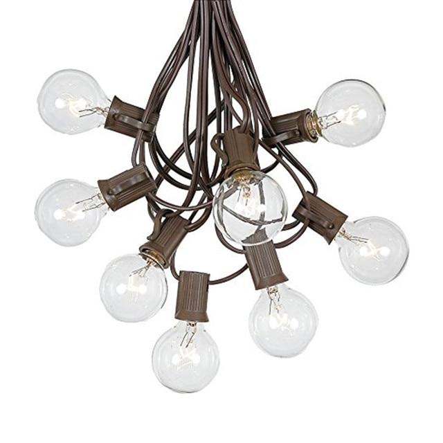 Globe 3 Mt 10 Klare Glühbirnen G40 String Licht Girlande ...