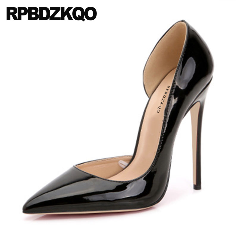 Ladies High Heels 2018 Red Stiletto Italian Black Pumps Celebrity Pointed  Toe Size 4 34 Shoes D orsay 33 Peach Patent Leather 14c04095c7aa