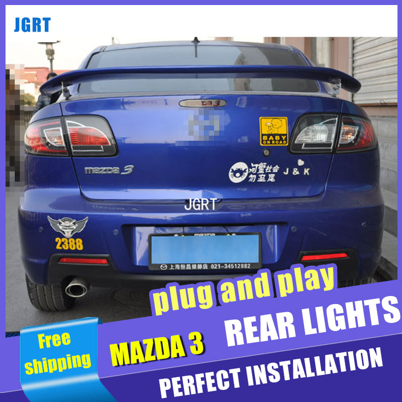 car styling For Mazda 3 taillights 2006-2012 for Mazda 3  rear lights dedicated car light led taillight assembly 2 color changing custom car logo led light for mazda 3