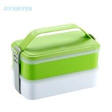 1200 ml Mikrowelle Tragbare Lunchbox Doppelschichten Frische Isolierung Korb Boxen Mode Split Dichtung Besteck Sets Multi Mahlzeit