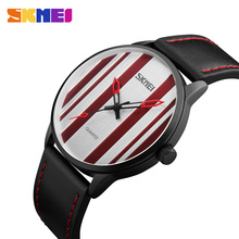 SKMEI Men Fashion Simple Quartz Watches Luxury Brand Watch Leather Strap Business Waterproof Wristwatch Relogio Masculino XFCS цена