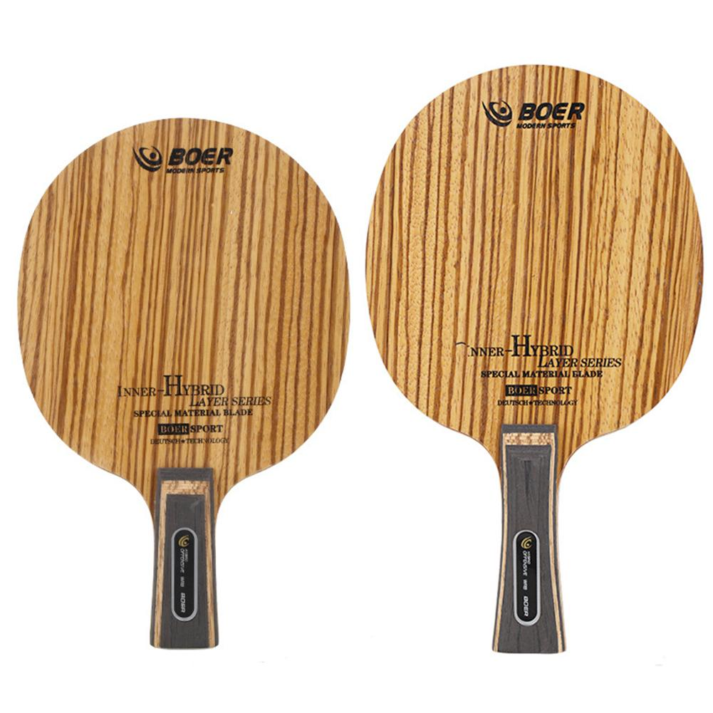 Professional Carbon Fiber Table Tennis Rackets With Double Face Pimples-in Table Tennis Rubber Ping Pong Racket