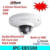 Original Dahua 5MP Vandal Proof Network Fisheye CCTV IP H264 POE IR Camera IPC EB5500