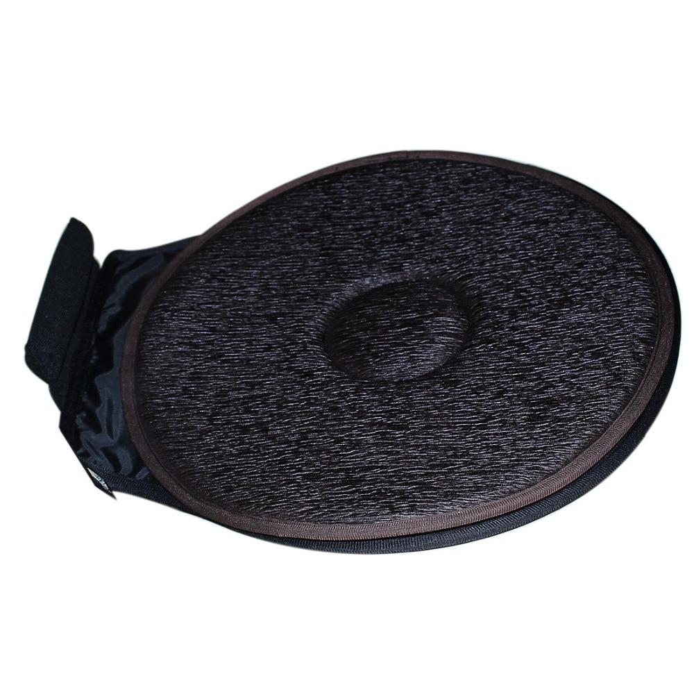 2 шт. автокресло центру вращающийся валик поворотный пены мобильность помощи стул подушки сиденья Кофе