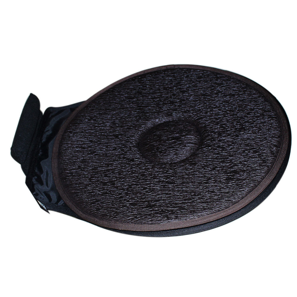 2ps Car Seat Revolving Rotating Cushion Swivel Foam Mobility Aid Chair Seat Cushion Coffee industrial furniture countryside saddle coffee chair rotating wood seat
