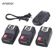 Andoer 16 canales de Flash remoto inalámbrico Trigge Universal interfaz de zapata caliente para Canon Nikon Pentax Olympus Speedlite