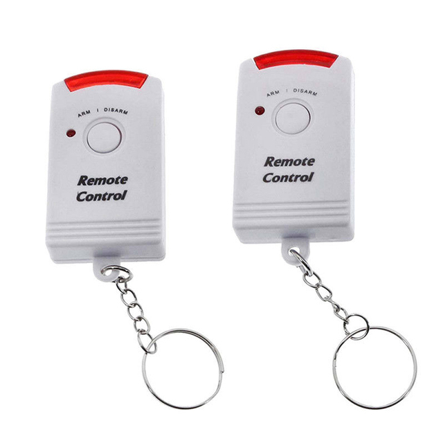 Portable 105dB PIR Motion Detector Infrared Anti-theft Motion Detector Home Security Alarm system+2 controllers