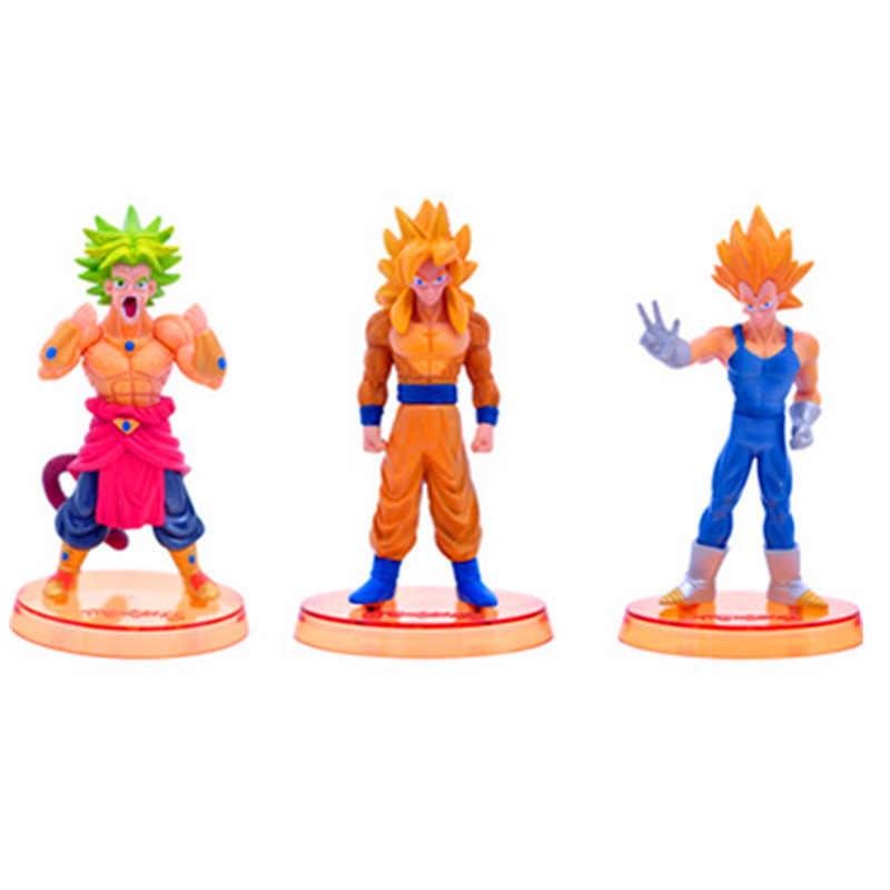 12 CENTÍMETROS Dragon Ball Z Son Goku Vegeta Brolly Super Saiyan 4 Estatueta Bonecas Brinquedos Ação PVC Figura Coleção Modelo brinquedo H535