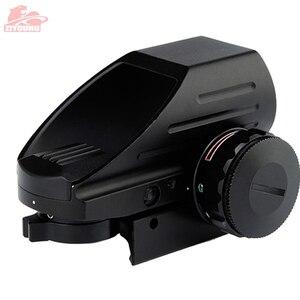 Image 3 - Mira telescópica holográfica de punto rojo/verde, mira de 4 retículas para caza, mira telescópica táctica de Airsoft, montaje de riel de 20mm en Rifle