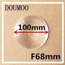 5 pcs / lot Fresnel Lens Diameter 100 mm Focal length 68 mm Fresnel Lens High light condenser DIY acrylic fresnel lens