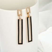 Ladies Fashion Simple Geometric Style Rhinestone Earrings Wedding Party Jewelry Wholesale