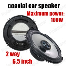 a pair Car audio speakers 6.5 inch car horn coaxial car speaker car stereo speaker 2 way 2x100W best selling high quality