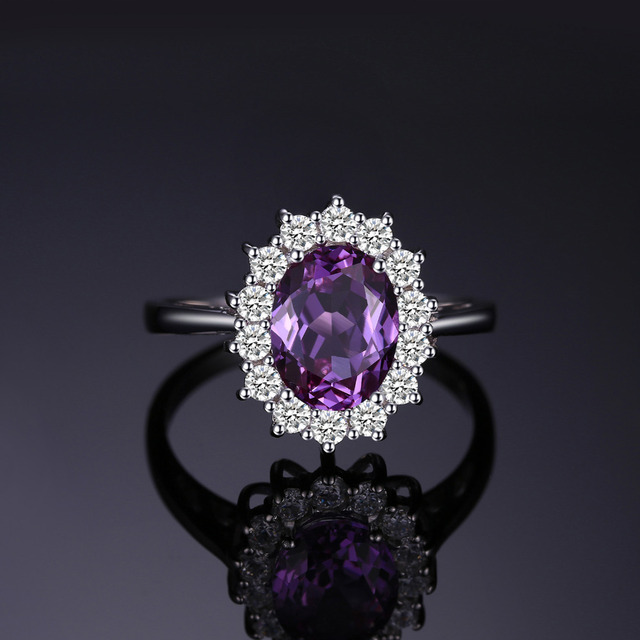 JewelryPalace Princess Diana William Kate Middleton's 3.2ct Created Alexandrite Sapphire Ring 925 Sterling Silver Fine Jewelry