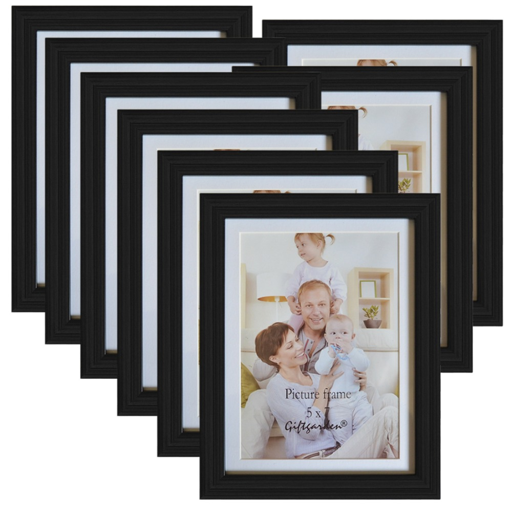 giftgarden  picture frame black photo frame set