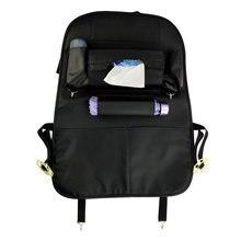 Автокресло Вернуться Мешок Хранения Организатор iPad Телефон Владельца Висит сумки Мульти-Карман Кожа Черная