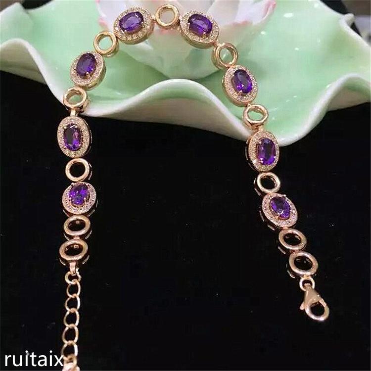 KJJEAXCMY fine jewelry S925 Pure silver inlaid with natural amethyst bracelet jewelry. kjjeaxcmy fine jewelry s925 pure silver inlaid with natural tanzanite ring jewelry platinum color