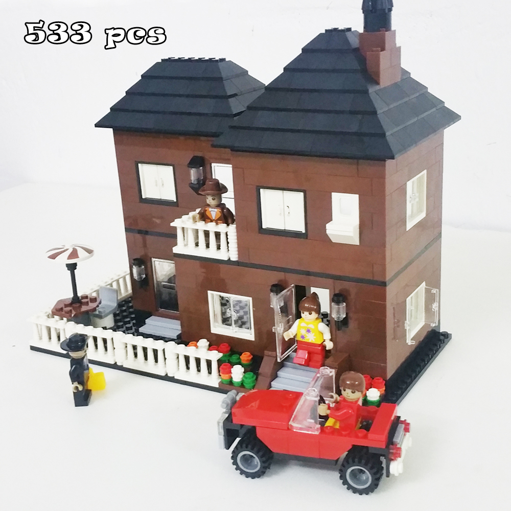 Model building kits compatible with lego city rooming for Modele maison lego classic