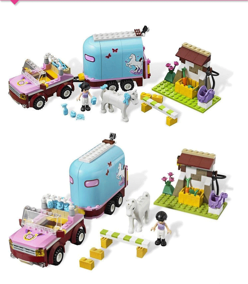 10161 BELA Friends Emma's Trailer Building Brick Blocks Sets Girl Toys Compatible 3186 Horse Farm нож корсар дамасская сталь