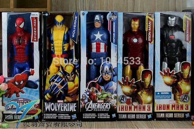 Kids Toys Action Figure: 2014 MARVEL The Avengers Superhero Habro Toy X Men Origins